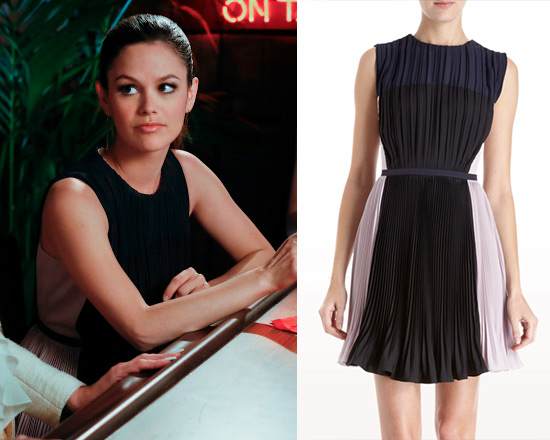 rachel-bilson-O-2nd-Pleated-Colorblocked-Dress