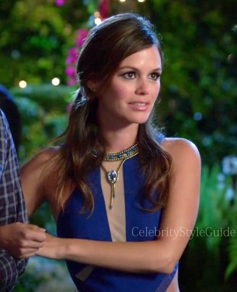 Hart-of-dixie-Rachel-Bilson-Blue-and-Black-Cutout-Dress
