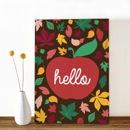 Colors-Herfst-appel-ansichtkaart-Oktoberdots