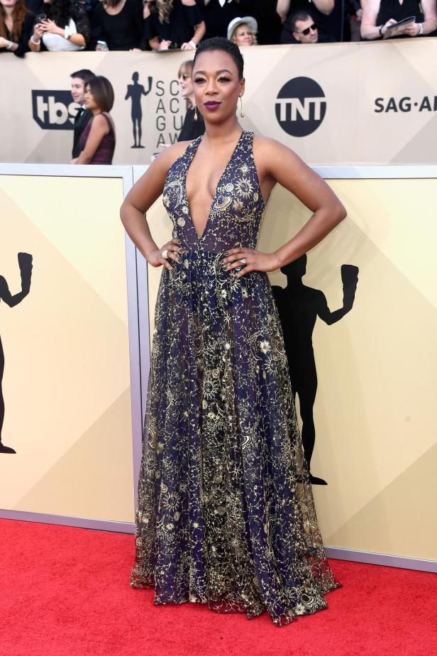 samira-wiley-sag-awards-2018-red-carpet-fashion